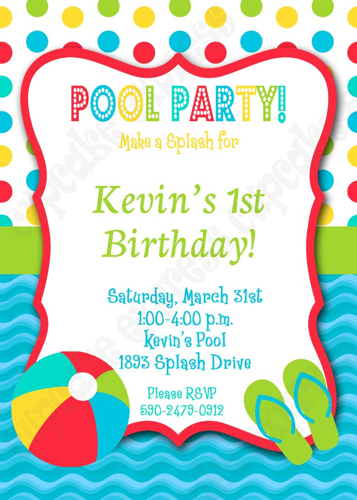 17 best images about pool party birthday ideas on - How to make a pool party ...