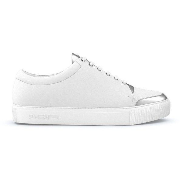 Swear Marshall Fast Track Customisation (395 AUD) ❤ liked on Polyvore featuring men's fashion, men's shoes, men's sneakers, white, mens python shoes, mens white shoes, mens white leather sneakers, mens crocodile shoes and crocs mens shoes