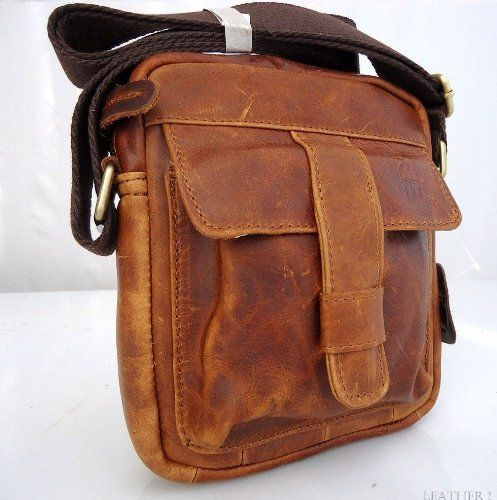 Genuine Natural Leather Wallet Bag   Starp Man Hand Pouch Sling Backpack Cellphone Hip New Free Shipping !