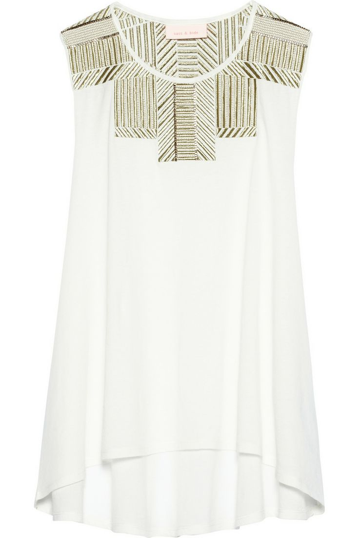 Sass & bide|Along The Way embellished cotton-jersey top|NET-A-PORTER.COM