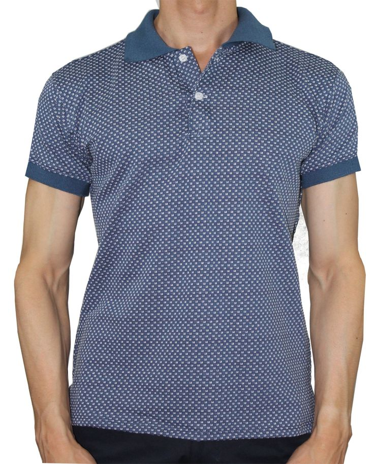 Polo Slim Elwood Azul Medio