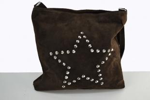 Bruine tas met zilveren studs - brown bag with silver studs
