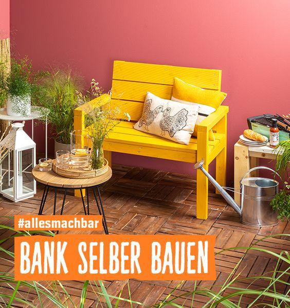 Stylische Gartenbank selber bauen!