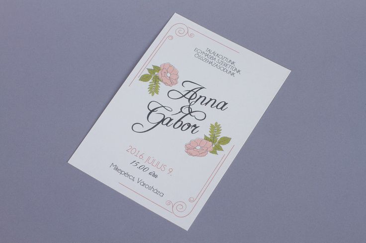Kártyás esküvői meghívó, vintage esküvői meghívó_card wedding invitation, vintage wedding