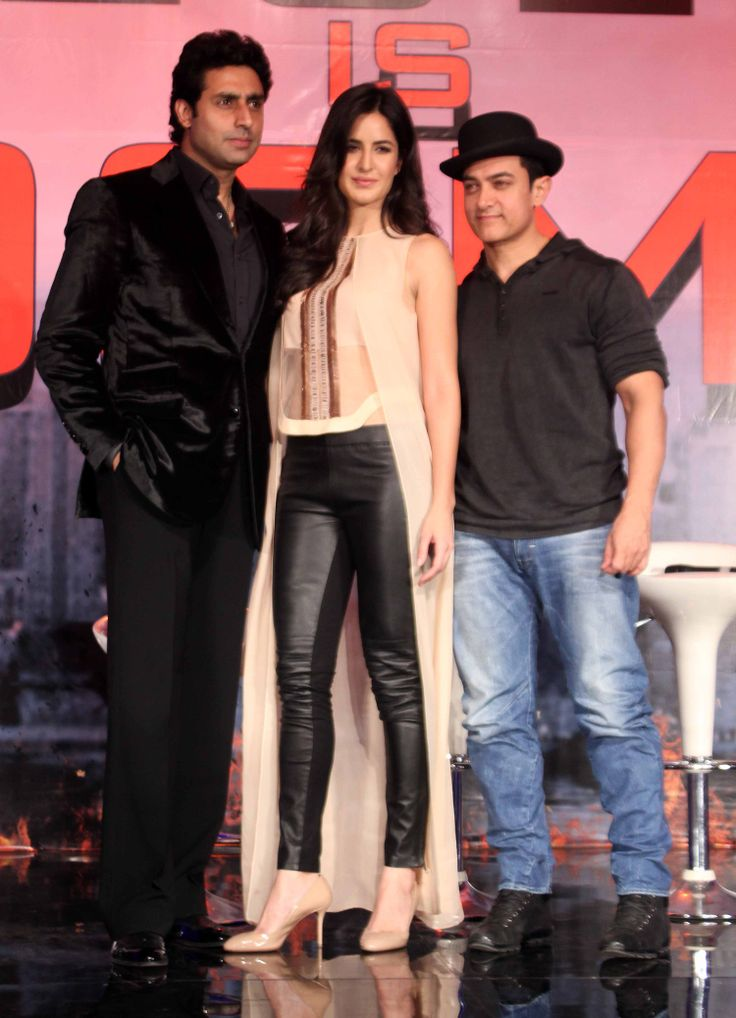 Aamir Khan, Abhishek Bachchan, Katrina Kaif and Team @ 'Dhoom 3' Movie Press Conference