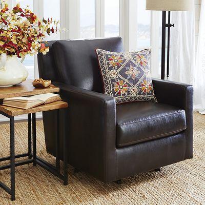 Darren Swivel Rocker Chair - Brown