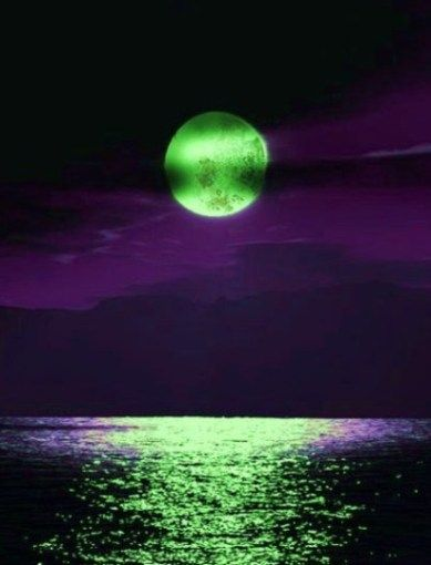 Haunting Green Moon