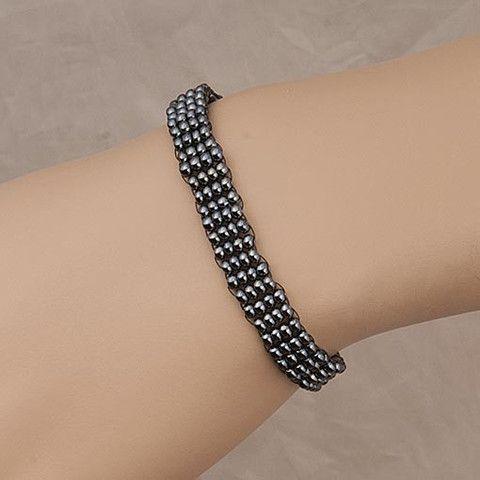 #Handmade Gray #Beaded #Bracelet Anthos #Jewellery – Anthos Crafts