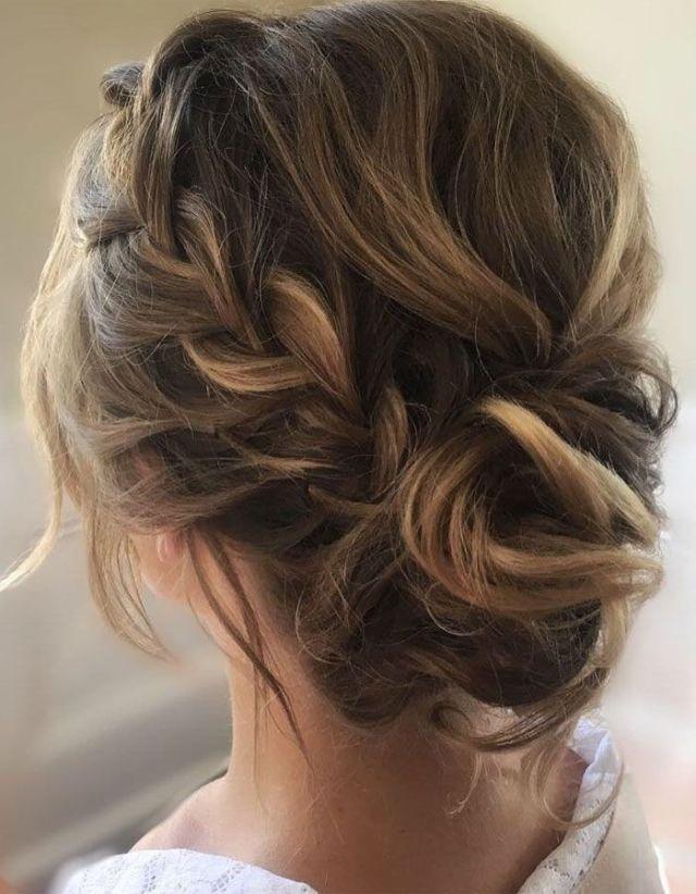 Etéreo peinado de boda Updo | Crown Braid Updo Peinado, Boho Braid …