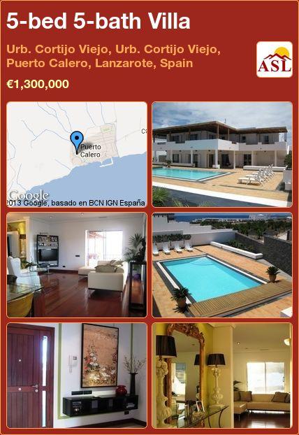 5-bed 5-bath Villa in Urb. Cortijo Viejo, Urb. Cortijo Viejo, Puerto Calero, Lanzarote, Spain ►€1,300,000 #PropertyForSaleInSpain