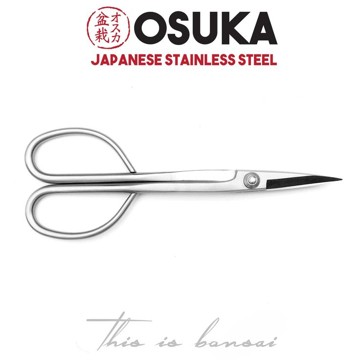 • OSUKA Bonsai Scissors (Large) • Length – 210mm • Finish – Silver • Material – High Quality Japanese Stainless Steel