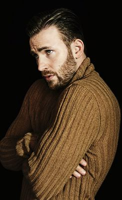 I would steal this sweater in a heartbeat. I would have a great sweater and then Chris Evans would be shirtless.