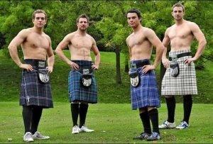 Love a Scottish Man wearing a kilt
