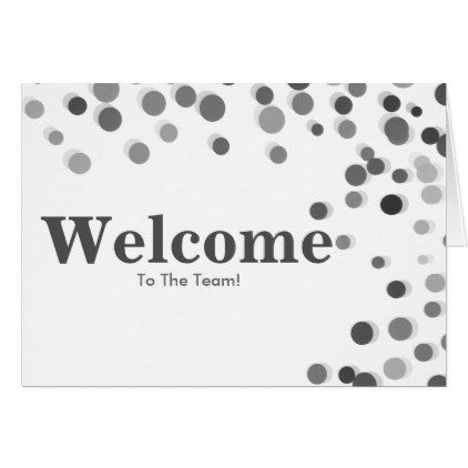 Colorful Falling Sparkles Polka Dots Welcome Card - simple clear clean design style unique diy