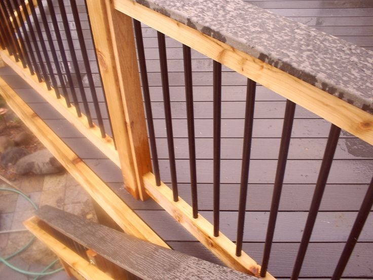 The Deck Barn - How To Install Metal Spindles   Deck ...
