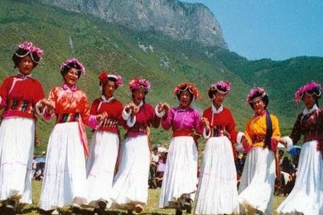 Mosuo women from Lugu lake