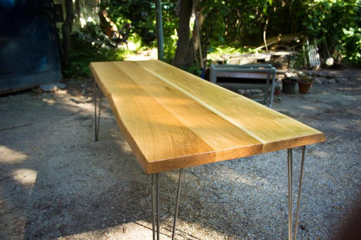 DINING TABLE Large Thick Old Oak Dining Table by Hardmandasein, €999.00
