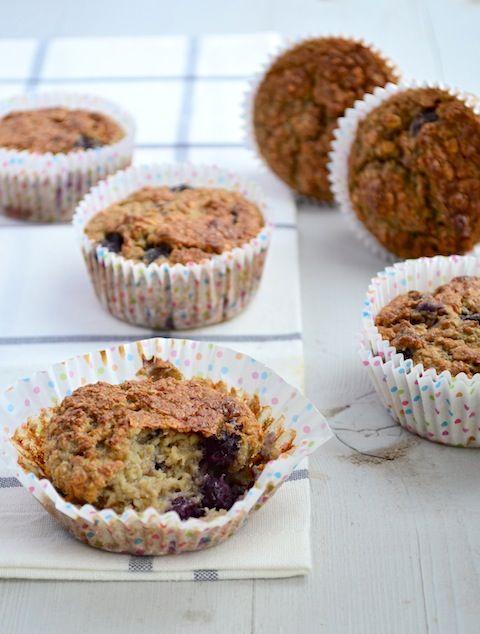 Gezonde muffins met havermout, vervang melk door lactosevrije melk of sojamelk