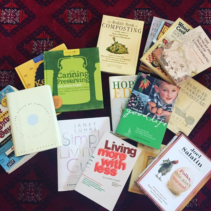 My mom and I cleaned out some bookshelves yesterday and I found a treasure trove of simple living gardening and cooking books. I definitely wont get bored this winter!   #zerowaste #zerowastelife #zerowasteliving #zerowastelifestyle #bezero #trashfree #earthdayeveryday #saveourearth #saveourseas #sustainability #sustainableliving #sustainable #allnatural #chemicalfree #chemicalfreeliving #plasticfree #eathfriendly #hippiestyle #bringyourown #lifstyle #lifechoices