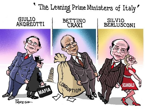 The Leaning Prime Minister of Italy