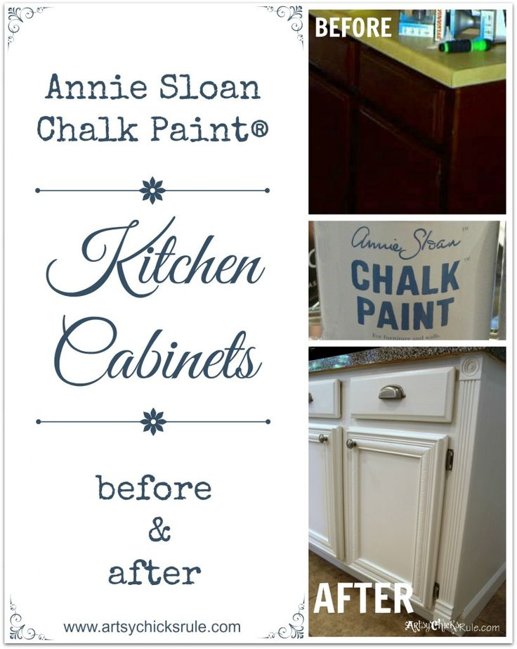 Kitchen Cabinets Painted with Annie Sloan Chalk Paint Before and After !!  artsychicksrule.com #chalkpaint #kitchen #diy Need to try this in my laundry!!