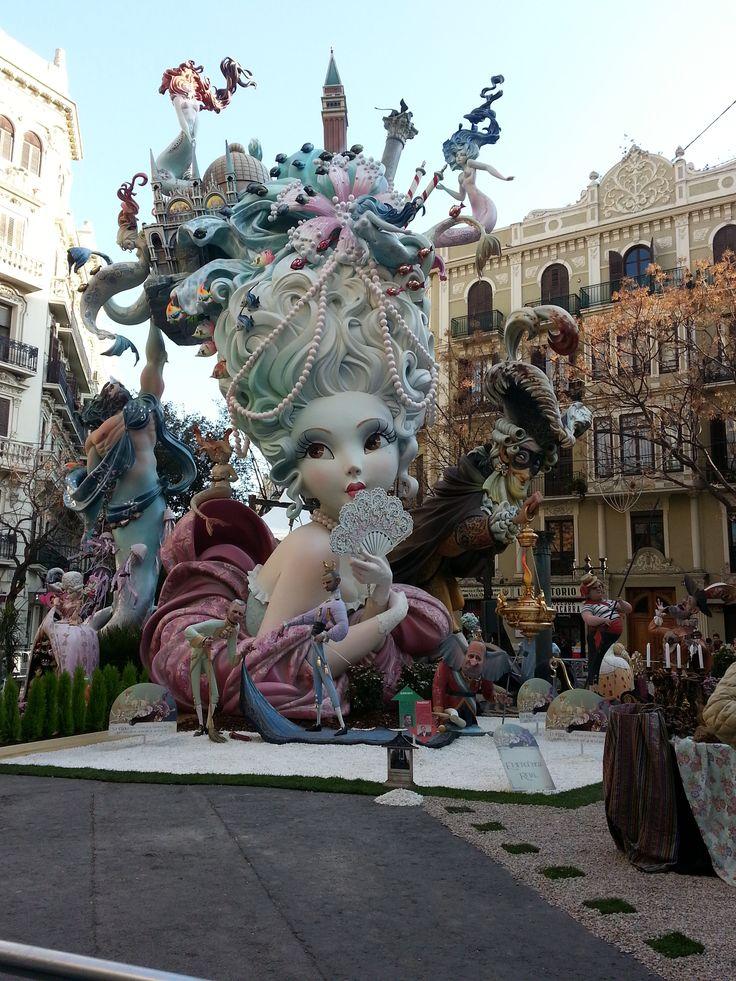 Falla Maestro Gozalbo Conde de Aldea Ganador de la sección 1a March 2015 Valencia - Spain