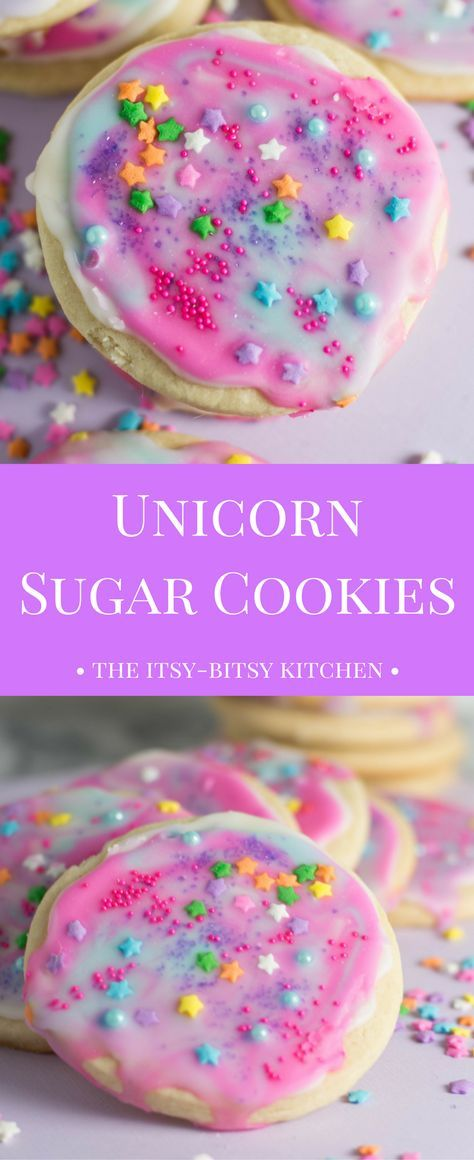 Ingredients Vegetarian Refrigerated 2 Eggs, large Condiments 3 tbsp Corn syrup, light Baking & Spices 3 1/2 cups All-purpose flour 1 tsp Baking powder 1 Food coloring and assorted sprinkles 1 1/2 cups Granulated sugar 1 Powdered sugar 3 cups Powdered sugar 1/2 tsp Salt 2 tsp Vanilla Snacks 1 Unicorn sugar cookies Dairy 1 cup Butter, unsalted Liquids 4 tbsp Water