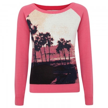 Juicy Couture Palm tree fine knit jumper