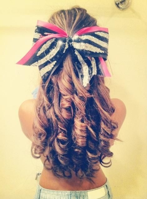 cheer hair. I love it. But really people have no class these days, it's called a top. She should try one :)