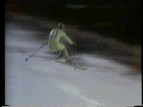 Franz Klammer - 1976 Olympic Gold Medal Run. The best downhiller ever giving the best Olympic downhill performance ever. No debate necessary.