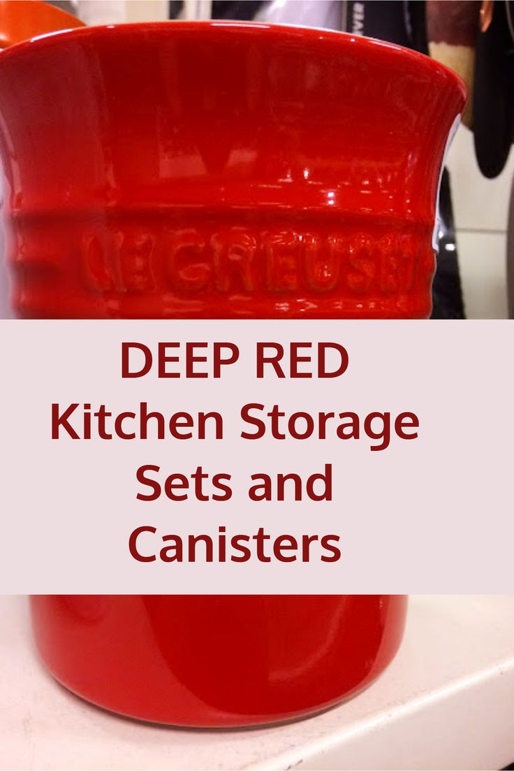 54 best shabby chic kitchen decor ideas images on pinterest deep red kitchen storage sets and canisters countertop storage jars and canisters in deep red