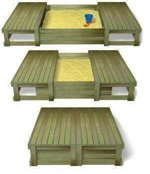 Sliding Lid Sandpit  When Kids Outgrow It, Convert It To A Raised Garden  Bed W/ Garden Benches. Sliding Lid Sandpit  When Kids Outgrow It, Convert  It To A ...