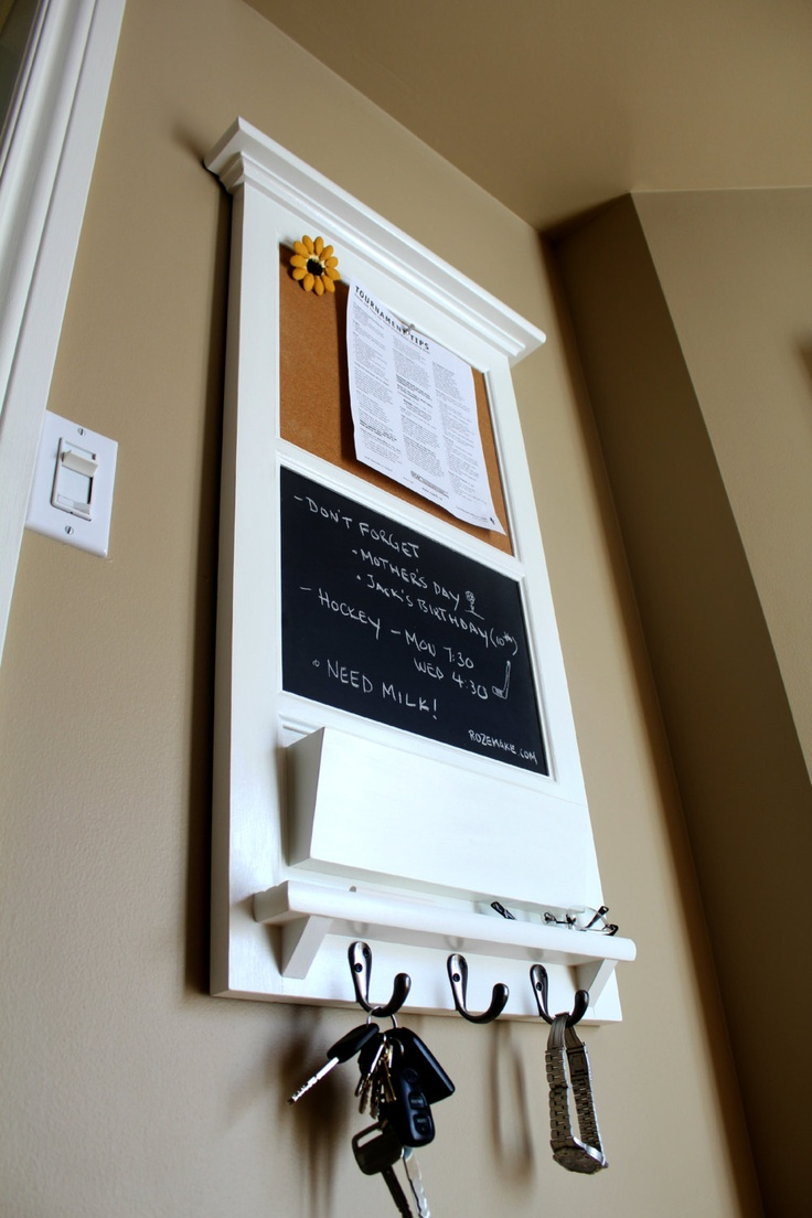 Vertical Wall Chalkboard Cork Bulletin Board with Mail by Rozemake, $190.00