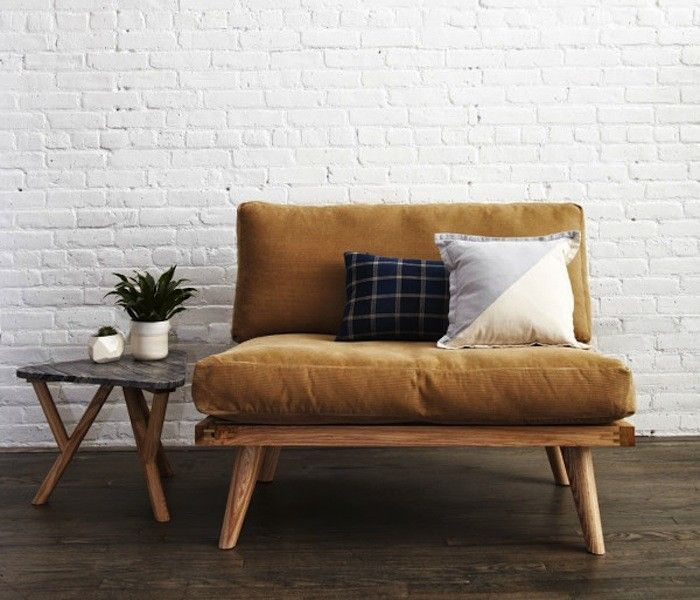 The chair, side table and paint brick wall - Lauren Liess | Pure Style Home