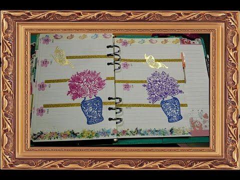 piccola introduzione al embossing + plan with me,decorazione a teme flor...