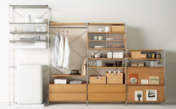 キッチン棚参考 // ステンレスユニットシェルフ 無印良品