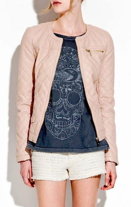 1000  images about How to style a pink leather jacket on Pinterest