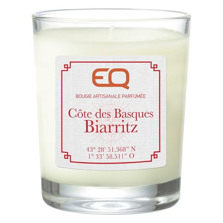 Bougie parfumée Biarritz EQ aroma: vanille, piment rouge, cardamone