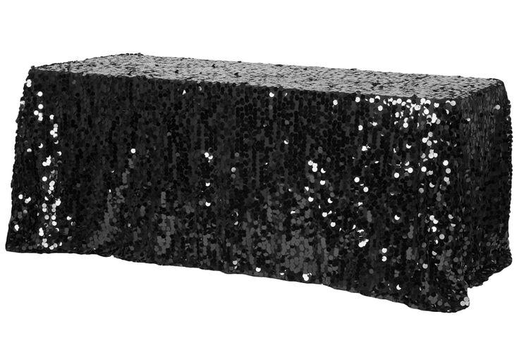 Large Payette Sequin Tablecloth 90 Quot X132 Quot Rectangular