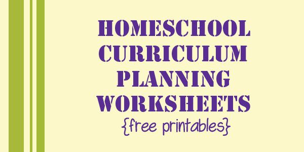 Homeschool Curriculum Planning Pages {free printable}