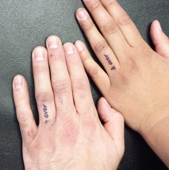 Liefde tattoo ideeën voor koppels