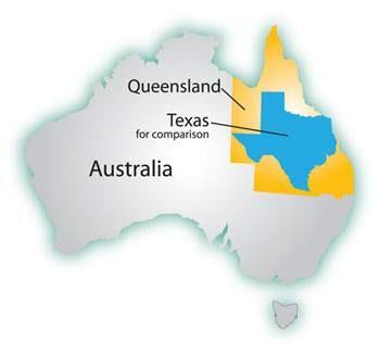Texas is smaller than Queensland