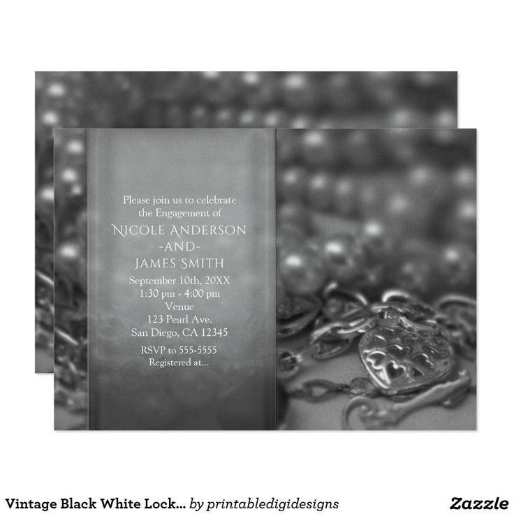 Vintage Black White Lock u0026 Key Elegant