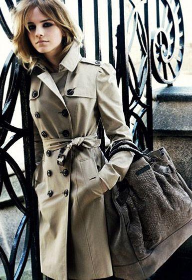 Emma Watson in Burberry