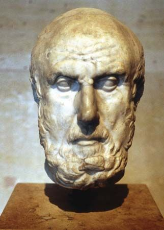 Hippocrates of Cos (c. 460 BC – c. 370 BC https://www.pinterest.com/pin/287386019948842868) was an ancient Greek physician of the Age of Pericles (Classical Greece), and is considered one of the most outstanding figures in the history of medicine. He is referred to as the father of Western medicine in recognition of his lasting contributions to the field as the founder of the Hippocratic School of Medicine.
