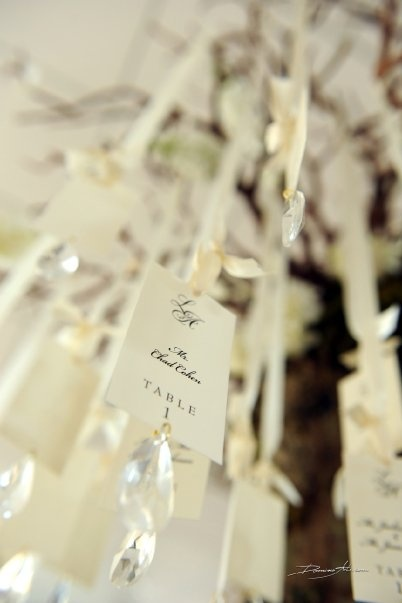 #Wedding #table #cards with #crystals... #Wedding picture by #DominoArts #Photography (www.DominoArts.com)