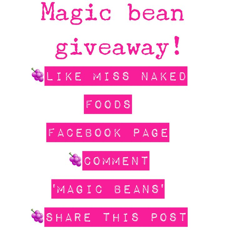Facebook competition. Win win win www.facebook.com/missnkdfoods