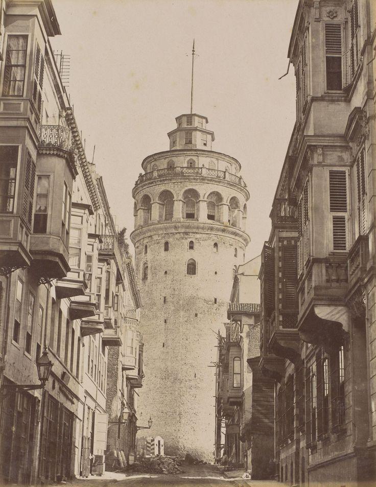 Galata Kulesi Pascal Sébah fotoğrafı / 1870s