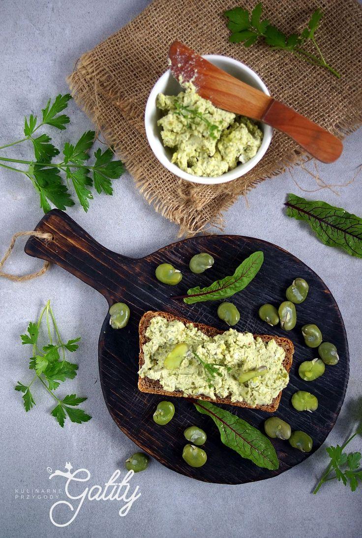 Kulinarne przygody Gatity - przepisy pełne smaku: Pasta z bobu z białym serem