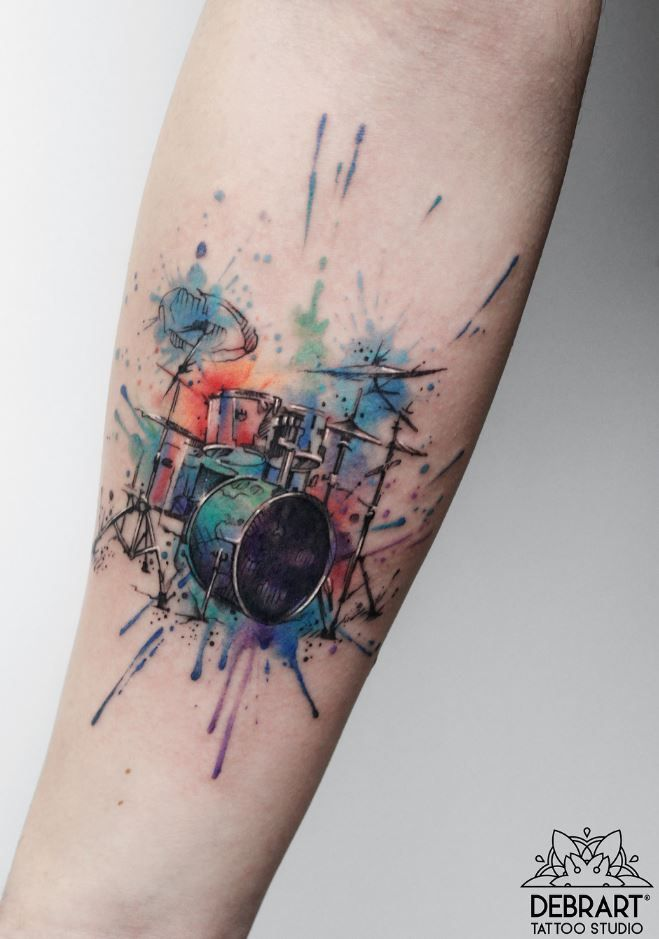 100 Best Tattoos Of All Time Thetatt Drum Tattoo Cool Tattoos Sketch Style Tattoos